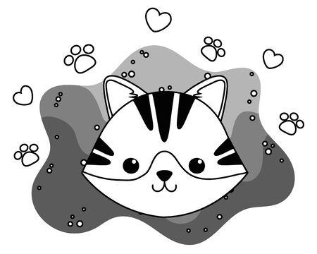 Cat cartoon design, Mascot pet animal domestic cute life nature and fauna theme Vector illustration Vetores