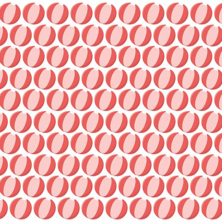 Isolated striped and summer ball background design