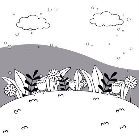 Nature shrubs vector design vector illustration