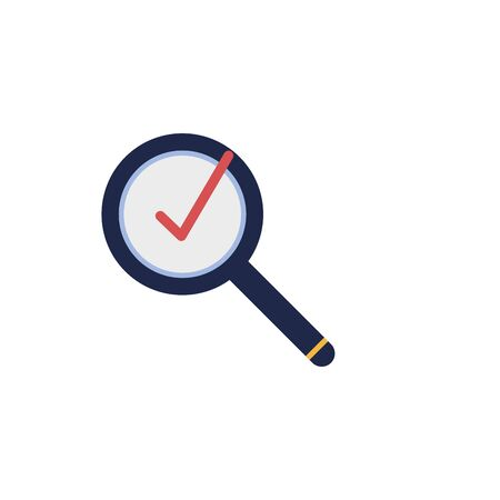 magnifying glass flat style icon vector illustration design Vettoriali