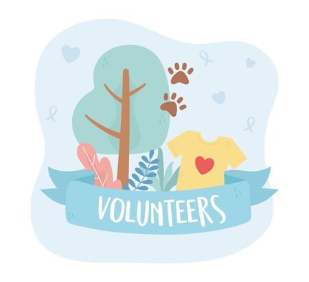 volunteering, help charity support adoption vector illustration Ilustracja