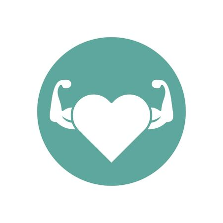 heart pulse icon design, Gym healthy lifestyle fitness bodybuilding bodycare activity exercise and diet theme Vector illustration
