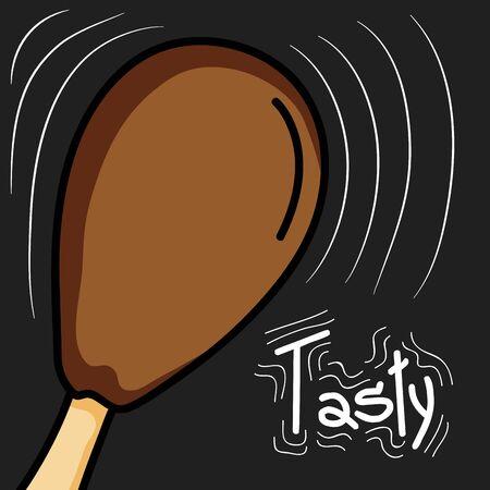 delicious chicken thigh food icon vector illustration design Illusztráció