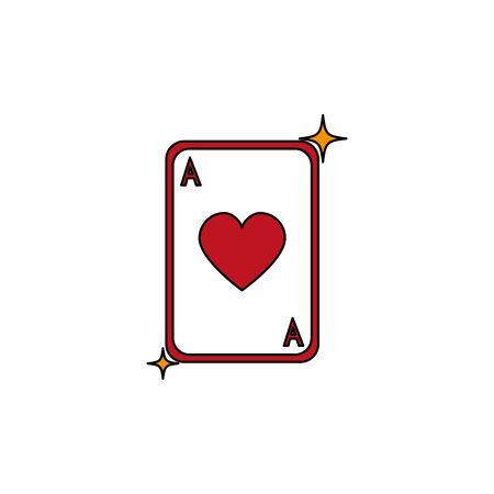 Isolated casino card fill design