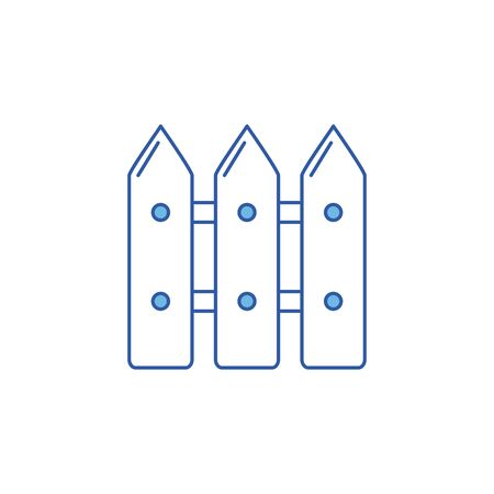 Isolated wood fence icon fill design