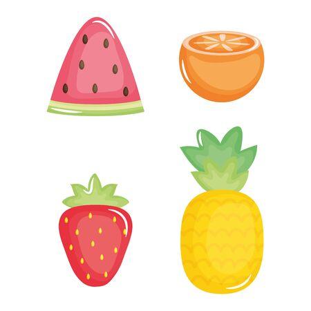 summer holiday poster set icons vector illustration design