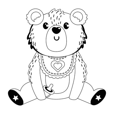 Baby symbol and teddy bear design Vectores