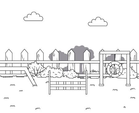Training park design, Mascot pet domestic animal friendship care and lifestyle theme Vector illustration Illusztráció