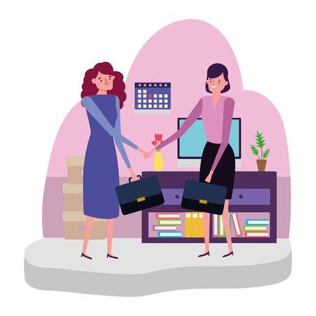 Businesswomen design, Woman business management corporate job occupation and worker theme Vector illustration