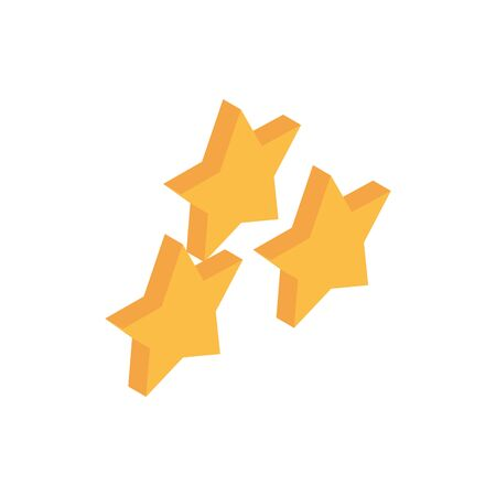 ecommerce business internet rating stars icon vector illustration isometric