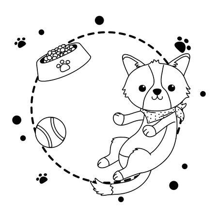 Dog cartoon design Vektoros illusztráció