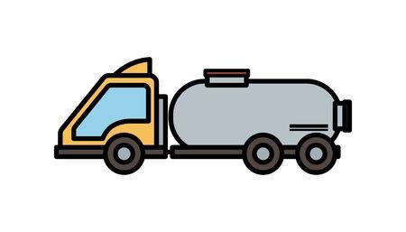 truck tank transport oil production vector illustration