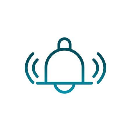 notification bell alert message communications gradient line Vectores