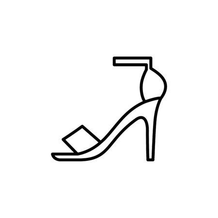 high heel female shoe line style vector illustration design Stock Illustratie