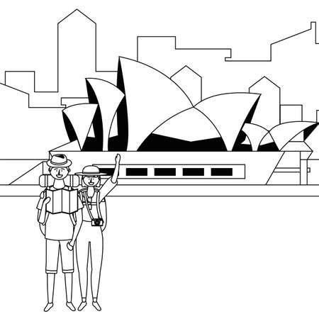 Opera House in Sidney design  イラスト・ベクター素材