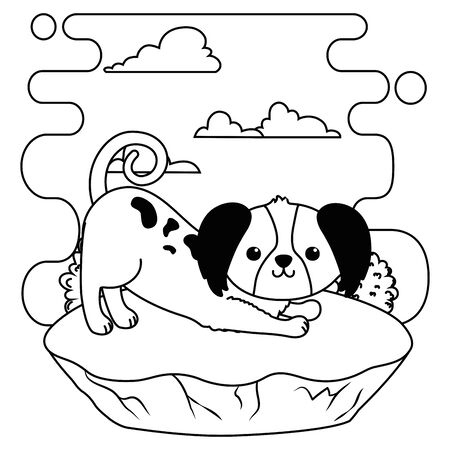 Dog cartoon design
