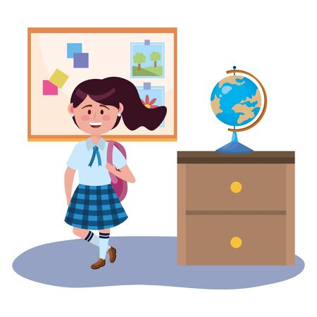 Girl kid design, School education learning knowledge study and class theme Vector illustration