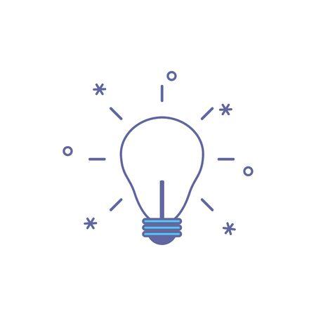light bulb fill style icon vector illustration design
