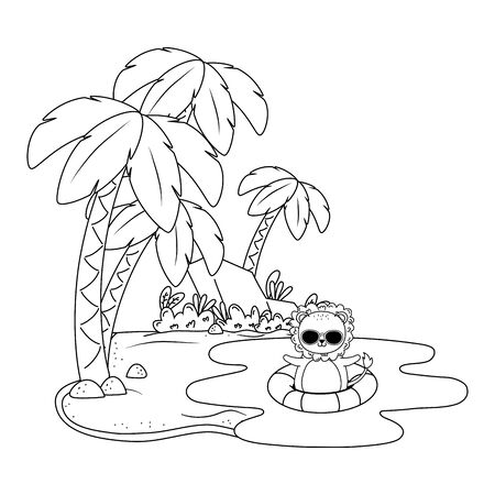 summer vacation relax time beach holidays scene cute