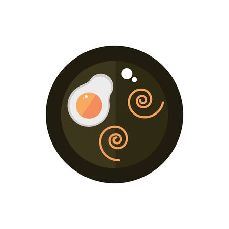 fried egg spaghetti tasty food japan icon