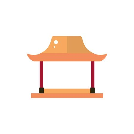 torii gate architecture traditional japan icon vector illustration