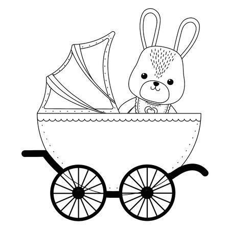 Isolated baby rabbit cartoon design Vectores