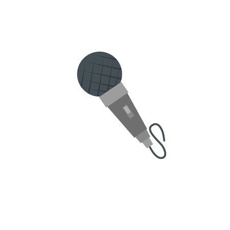 microphone instrument detailed style icon 向量圖像