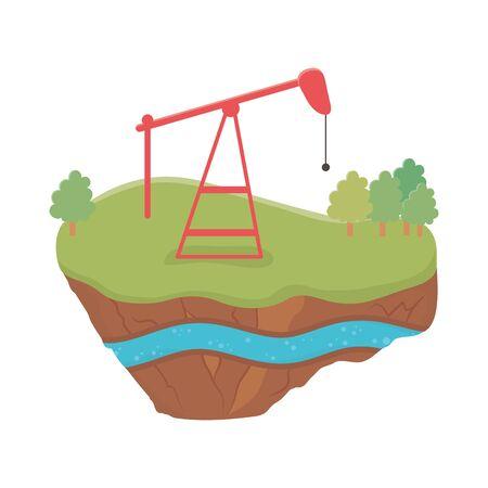 fracking oil rig soil layer water underground