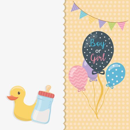 baby shower card with balloons helium