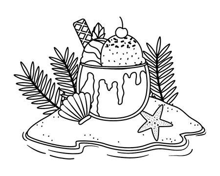 Ice cream design, Sweet dessert flavor scoop summer and tasty theme Vector illustration Illustration
