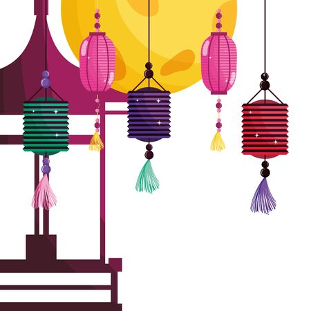 China lanterns vector design vector illustration Иллюстрация