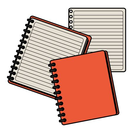 notebook school supply with sheet 向量圖像