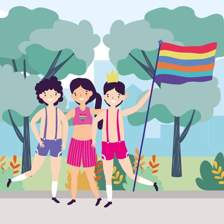People design, Lgtbi march pride equality freedom love and community theme Vector illustration Illustration