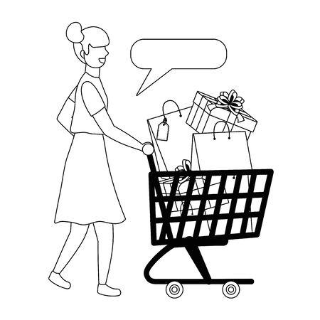 Woman shopping design vector illustration