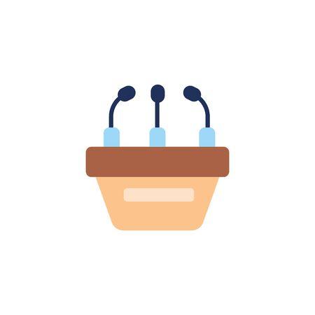 speech podium vote flat style icon