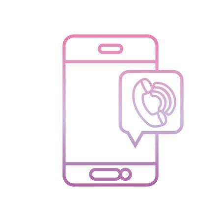 smartphone digital call , phone gradient icon