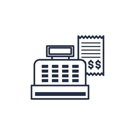 image de ligne d'argent de caisse enregistreuse