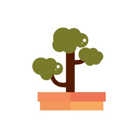 bonsai tree botanical nature japan icon  イラスト・ベクター素材