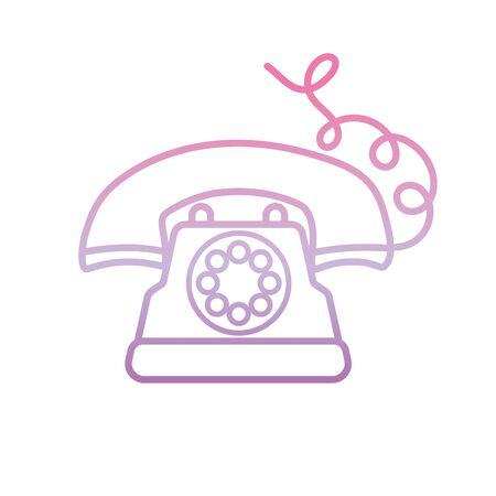 dial operated telephone , phone gradient icon Foto de archivo - 137350249