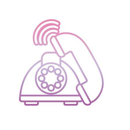 old telephone call , phone gradient icon Foto de archivo - 137348553