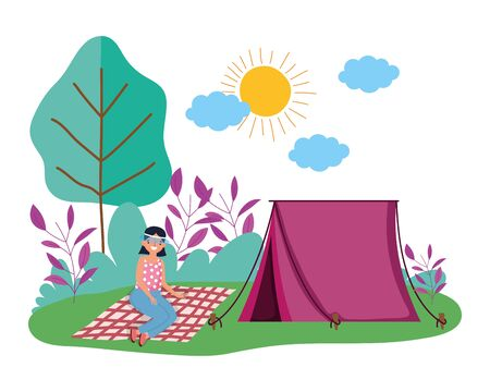 Tent and camping vector design