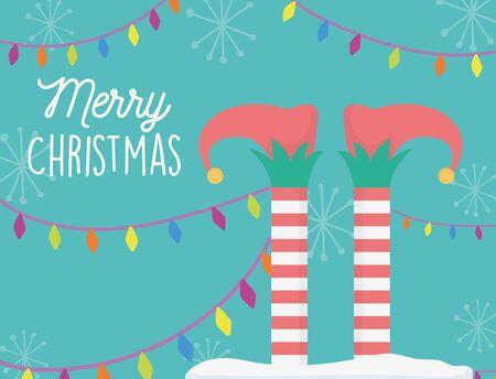 helper legs and lights merry christmas card