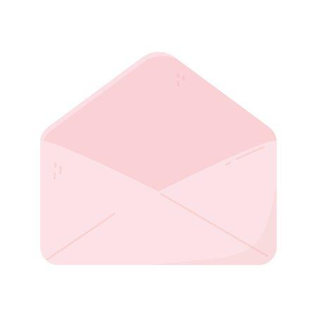 illustrazione vettoriale dell'icona del corriere del messaggio della busta aperta rosa