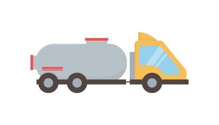 truck tank transport oil production Çizim