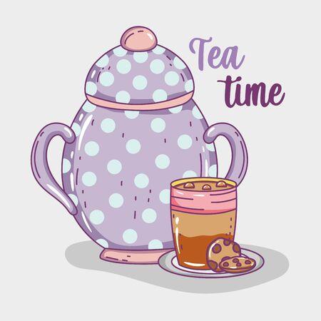 tea time sketch flat design Illustration