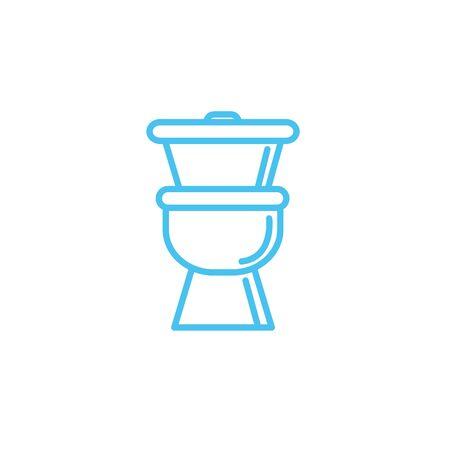 toilet ceramic line style icon Ilustração