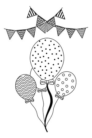 Isolated party balloons design vector illustration