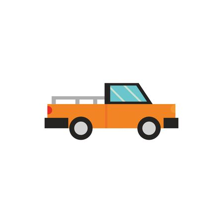 pickup truck transport icon on white background