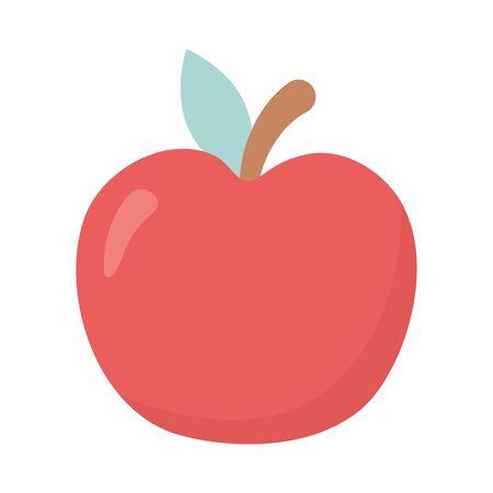 fresh fruit apple on white background