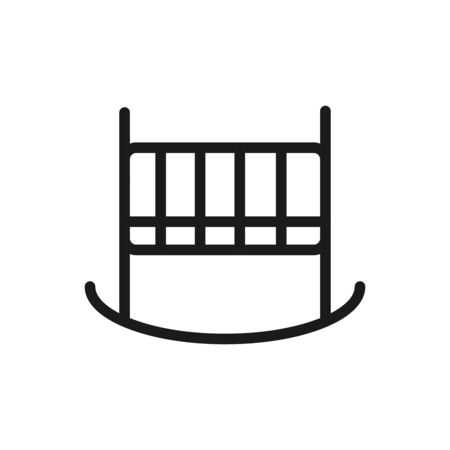 abby crib mattress comfortable soft textile vector illustration linear design